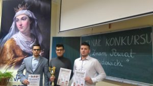 nagrodzeni w konkursie uczniowie CZiU nr 2