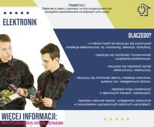 plakat reklamujący zawód elektronik