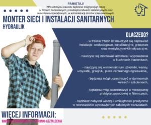plakat reklamujący zawód hydraulik