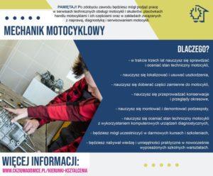 plakat reklamujący zawód mechanik motocyklowy