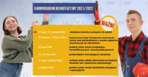 plakat z informacjami o terminach rekrutacji