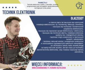 plakat reklamujący zawód technik elektronikechn