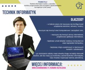 plakat reklamujący zawód technik informatyk