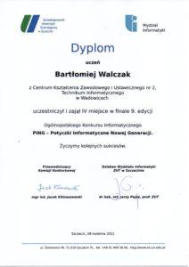 zdjęcie dyplomu ucznia