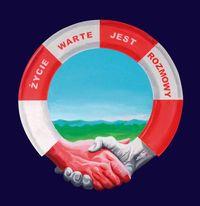 plakat przedstawia koło ratunkowe- symbol akcji