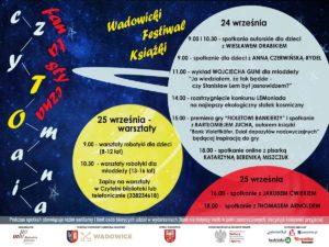 plakat reklamujący Czytomanię