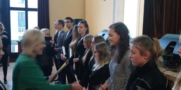Uroczystość wręczenia dyplomów stypendystom Prezesa Rady Ministrów.