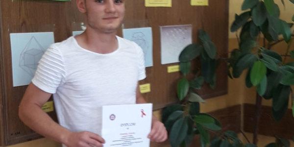 Dominik Laureatem konkursu   organizowanego przez wadowicki Sanepid