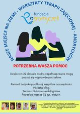plakat reklamujący zbiórkę pieniężną