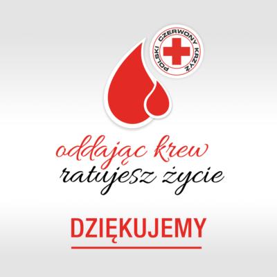 podziękowanie za oddanie krwi